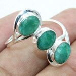 3-stone-Ring-Emerald-925-Sterling-Silver-Ring-Three-Stone-Ring-for-Gift-B07L2VSYQB