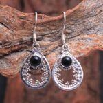 Black-Onyx-Gemstone-Sterling-Silver-Drop-Earrings-for-Women-and-Girls-Bezel-Set-Ear-Wire-Earrings-Black-Bridesmaid-Ear-B08K619H87-2