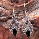 Black-Onyx-Gemstone-Sterling-Silver-Drop-Earrings-for-Women-and-Girls-Bezel-Set-Ear-Wire-Earrings-Black-Bridesmaid-Ear-B08K65DWTQ-2