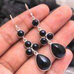 Black-Onyx-Gemstone-Sterling-Silver-Drop-Earrings-for-Women-and-Girls-Bezel-Set-Ear-Wire-Earrings-Black-Onyx-Bridesmai-B08K65D9RZ-2