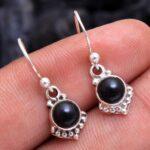 Black-Onyx-Gemstone-Sterling-Silver-Small-Dangle-Earrings-for-Women-and-Girls-Bezel-Set-Ear-Wire-Earrings-Black-Brides-B08K5YXDVJ