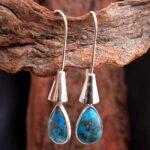 Blue-Copper-Turquoise-Gemstone-Sterling-Silver-Boho-Drop-Earrings-for-Women-and-Girls-Bezel-Set-Fishhook-Earrings-Blue-B08K62ZK2K-2