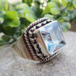 Blue-Topaz-925-Sterling-Silver-Ring-Gemstone-Handmade-Jewelry-B07L2V7GJZ