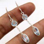 Blue-Topaz-Gemstone-Sterling-Silver-2-tier-Drop-Earrings-for-Women-and-Girls-Bezel-Set-Ear-Wire-Earrings-Blue-Bridesma-B08K647FKZ-2