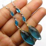 Blue-Topaz-Gemstone-Sterling-Silver-3-tier-Drop-Earrings-for-Women-and-Girls-Bezel-Set-Ear-Wire-Earrings-Blue-Bridesma-B08K635QNQ