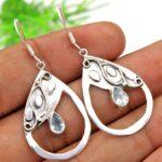 Blue-Topaz-Gemstone-Sterling-Silver-Drop-Earrings-for-Women-and-Girls-Bezel-Set-Ear-Wire-Earrings-Blue-Bridesmaid-Earr-B08K628S5Z