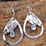 Blue-Topaz-Gemstone-Sterling-Silver-Drop-Earrings-for-Women-and-Girls-Bezel-Set-Ear-Wire-Earrings-Blue-Bridesmaid-Earr-B08K628S5Z-2