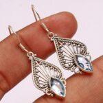 Blue-Topaz-Gemstone-Sterling-Silver-Drop-Earrings-for-Women-and-Girls-Bezel-Set-Ear-Wire-Earrings-Blue-Bridesmaid-Earr-B08K62J6CN