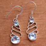 Blue-Topaz-Gemstone-Sterling-Silver-Drop-Earrings-for-Women-and-Girls-Bezel-Set-Ear-Wire-Earrings-Blue-Bridesmaid-Earr-B08K631SWZ-2