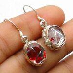 Blue-Topaz-Gemstone-Sterling-Silver-Drop-Earrings-for-Women-and-Girls-Bezel-Set-Ear-Wire-Earrings-Blue-Bridesmaid-Earr-B08K658QY7