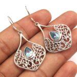 Blue-Topaz-Gemstone-Sterling-Silver-Filigree-Drop-Earrings-for-Women-and-Girls-Bezel-Set-Ear-Wire-Earrings-Blue-Brides-B08K62R822