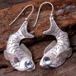 Blue-Topaz-Gemstone-Sterling-Silver-Fish-Drop-Earrings-for-Women-and-Girls-Bezel-Set-Ear-Wire-Earrings-Blue-Bridesmaid-B08K5KTJSQ-2