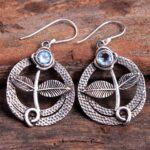 Blue-Topaz-Gemstone-Sterling-Silver-Leaf-Dangle-Earrings-for-Women-and-Girls-Bezel-Set-Ear-Wire-Earrings-Blue-Bridesma-B08K5YNTKF