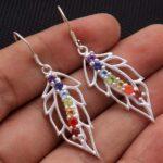Blue-Topaz-Gemstone-Sterling-Silver-Leaf-Drop-Earrings-for-Women-and-Girls-Prongs-Set-Ear-Wire-Earrings-Blue-Bridesmai-B08K62R3G9