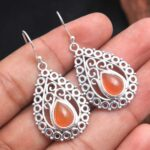 Carnelian-Gemstone-Sterling-Silver-Boho-Drop-Earrings-for-Women-and-Girls-Bezel-Set-Ear-Wire-Earrings-Orange-Bridesmai-B08K63WF1Y