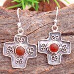 Carnelian-Gemstone-Sterling-Silver-Cross-Dangle-Earrings-for-Women-and-Girls-Bezel-Set-Ear-Wire-Earrings-Orange-Brides-B08K5ZFQJ2-2