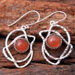 Carnelian-Gemstone-Sterling-Silver-Dangle-Earrings-for-Women-and-Girls-Bezel-Set-Ear-Wire-Earrings-Orange-Bridesmaid-E-B08K61LJ3C-2