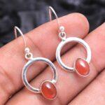 Carnelian-Gemstone-Sterling-Silver-Dangle-Earrings-for-Women-and-Girls-Bezel-Set-Ear-Wire-Earrings-Orange-Bridesmaid-E-B08K63KL4Z-2