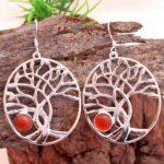 Carnelian-Gemstone-Sterling-Silver-Dangle-Earrings-for-Women-and-Girls-Bezel-Set-Ear-Wire-Earrings-Red-Bridesmaid-Earr-B08K63CN4B-2