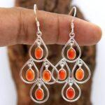Carnelian-Gemstone-Sterling-Silver-Drop-Chandelier-Earrings-for-Women-and-Girls-Bezel-Set-Ear-Wire-Earrings-Orange-Bri-B08K61NB3F-2