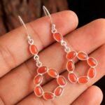 Carnelian-Gemstone-Sterling-Silver-Drop-Earrings-for-Women-and-Girls-Bezel-Set-Ear-Wire-Earrings-Red-Bridesmaid-Earrin-B08K61GMJP