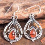 Carnelian-Gemstone-Sterling-Silver-Drop-Earrings-for-Women-and-Girls-Bezel-Set-Ear-Wire-Earrings-Red-Bridesmaid-Earrin-B08K63ZDL4-2