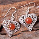 Carnelian-Gemstone-Sterling-Silver-Heart-Drop-Earrings-for-Women-and-Girls-Bezel-Set-Ear-Wire-Earrings-Orange-Bridesma-B08K61DJ3G-2