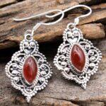 Carnelian-Gemstone-Sterling-Silver-Vintage-Dangle-Earrings-for-Women-and-Girls-Bezel-Set-Ear-Wire-Earrings-Orange-Brid-B08K62JQ88-2