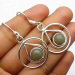 Cats-Eye-Gemstone-Sterling-Silver-Circle-Drop-Earrings-for-Women-and-Girls-Bezel-Set-Ear-Wire-Earrings-Green-Bridesmai-B08K63V45C