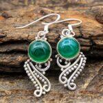 Chalcedony-Gemstone-Sterling-Silver-Boho-Dangle-Earrings-for-Women-and-Girls-Bezel-Set-Ear-Wire-Earrings-Green-Bridesm-B08K61G17G