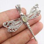 Citrine-Dragonfly-Two-Tone-925-Sterling-Silver-Pendant-B07JG5XFLZ-2