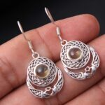 Citrine-Gemstone-Sterling-Silver-Claddagh-Drop-Earrings-for-Women-and-Girls-Bezel-Set-Ear-Wire-Earrings-Yellow-Bridesm-B08K648TKB