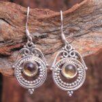 Citrine-Gemstone-Sterling-Silver-Drop-Earrings-for-Women-and-Girls-Bezel-Set-Ear-Wire-Earrings-Yellow-Bridesmaid-Earri-B08K64247N-2