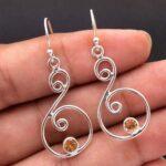 Citrine-Gemstone-Sterling-Silver-Drop-Earrings-for-Women-and-Girls-Bezel-Set-Ear-Wire-Earrings-Yellow-Bridesmaid-Earri-B08K64LPG3