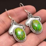 Copper-Turquoise-Gemstone-Sterling-Silver-Dangle-Earrings-for-Women-and-Girls-Bezel-Set-Ear-Wire-Earrings-Green-Brides-B08K62YVYT