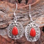 Coral-Gemstone-Sterling-Silver-Vintage-Dangle-Earrings-for-Women-and-Girls-Bezel-Set-Ear-Wire-Earrings-Red-Bridesmaid-B08K63ZQ6S-2