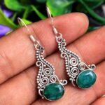 Emerald-Gemstone-Sterling-Silver-Drop-Earrings-for-Women-and-Girls-Bezel-Set-Ear-Wire-Earrings-Green-Bridesmaid-Earrin-B08K62BWP4