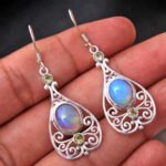 Ethiopian-Opal-Gemstone-Sterling-Silver-Drop-Earrings-for-Women-and-Girls-Bezel-Set-Ear-Wire-Earrings-Blue-Bridesmaid-B08K6375TB