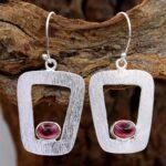 Garnet-Gemstone-Sterling-Silver-Boho-Dangle-Earrings-for-Women-and-Girls-Bezel-Set-Ear-Wire-Earrings-Red-Bridesmaid-Ea-B08K63GNDT
