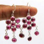 Garnet-Gemstone-Sterling-Silver-Chandelier-Earrings-for-Women-and-Girls-Bezel-Set-Ear-Wire-Earrings-Red-Bridesmaid-Ear-B08K61J4SR