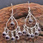 Garnet-Gemstone-Sterling-Silver-Chandelier-Earrings-for-Women-and-Girls-Bezel-Set-Ear-Wire-Earrings-Red-Bridesmaid-Ear-B08K63PY2L-2