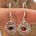 Garnet-Gemstone-Sterling-Silver-Dangle-Earrings-for-Women-and-Girls-Bezel-Set-Ear-Wire-Earrings-Red-Bridesmaid-Earring-B08K5YJ5NV