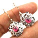 Garnet-Gemstone-Sterling-Silver-Dangle-Earrings-for-Women-and-Girls-Bezel-Set-Ear-Wire-Earrings-Red-Bridesmaid-Earring-B08K61V6TS