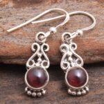 Garnet-Gemstone-Sterling-Silver-Dangle-Earrings-for-Women-and-Girls-Bezel-Set-Ear-Wire-Earrings-Red-Bridesmaid-Earring-B08K628Y8Y-2