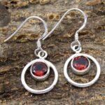 Garnet-Gemstone-Sterling-Silver-Dangle-Earrings-for-Women-and-Girls-Bezel-Set-Ear-Wire-Earrings-Red-Bridesmaid-Earring-B08K62XYXM
