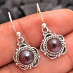 Garnet-Gemstone-Sterling-Silver-Dangle-Earrings-for-Women-and-Girls-Bezel-Set-Ear-Wire-Earrings-Red-Bridesmaid-Earring-B08K631SX1