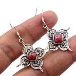 Garnet-Gemstone-Sterling-Silver-Designer-Dangle-Earrings-for-Women-and-Girls-Bezel-Set-Ear-Wire-Earrings-Red-Bridesmai-B08K5ZYFQS
