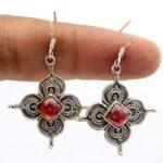 Garnet-Gemstone-Sterling-Silver-Designer-Dangle-Earrings-for-Women-and-Girls-Bezel-Set-Ear-Wire-Earrings-Red-Bridesmai-B08K5ZYFQS-2