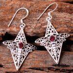 Garnet-Gemstone-Sterling-Silver-Dragonfly-Drop-Earrings-for-Women-and-Girls-Bezel-Set-Ear-Wire-Earrings-Red-Bridesmaid-B08K5YHLVM-2