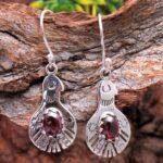 Garnet-Gemstone-Sterling-Silver-Hamsa-Dangle-Earrings-for-Women-and-Girls-Bezel-Set-Ear-Wire-Earrings-Red-Bridesmaid-E-B08K62VYDR